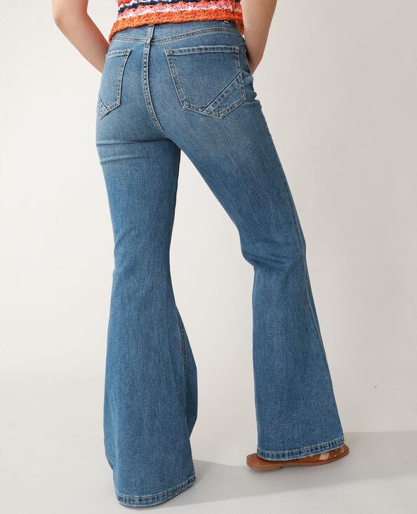 Flared jeans met hoge taille denimblauw - Pimkie