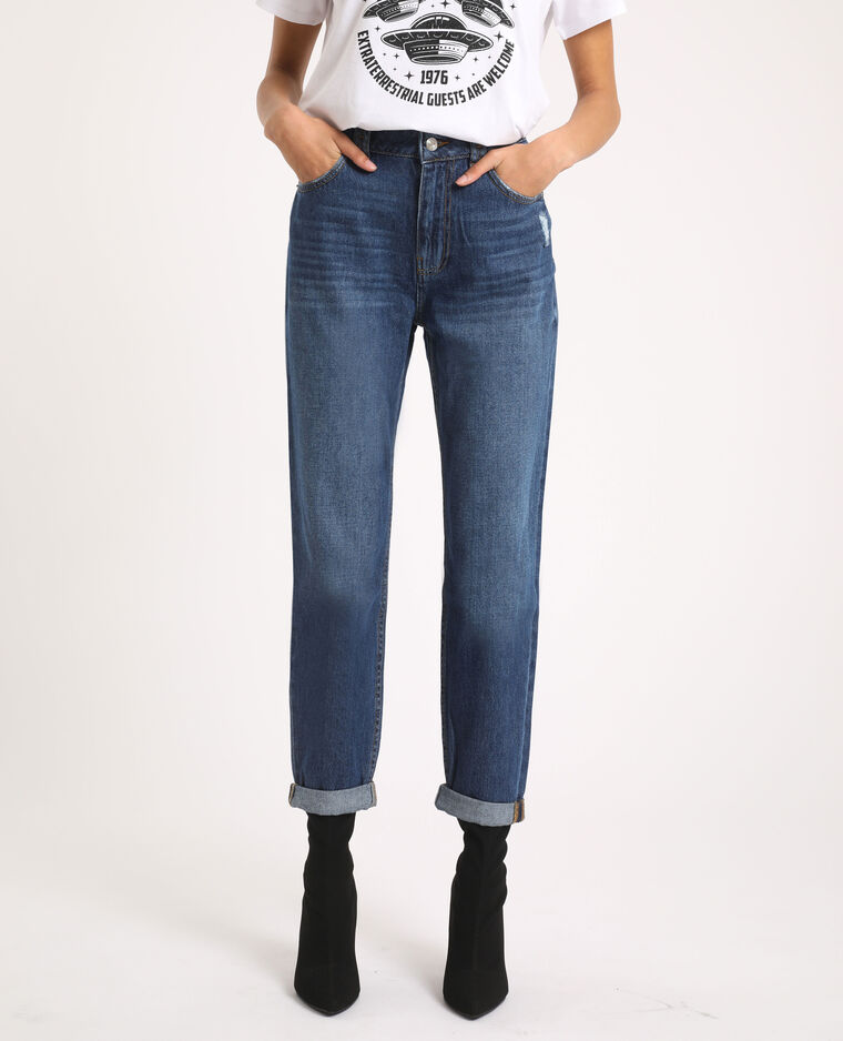 Jean mom high waist bleu