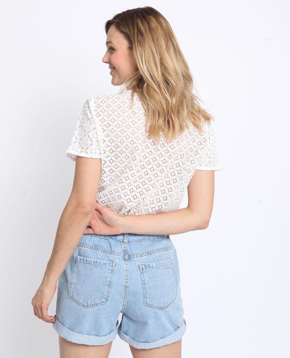 T-shirt met kant wit