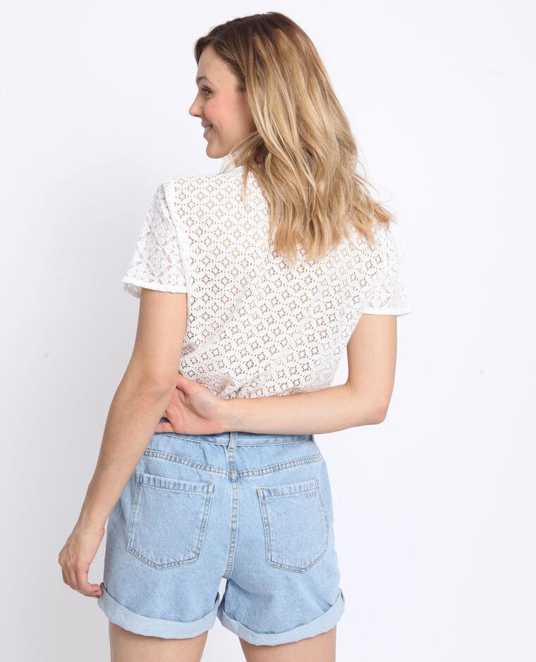 T-shirt en dentelle blanc