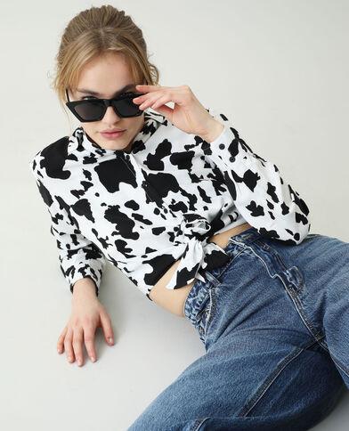 Chemise nouée vache noir - Pimkie