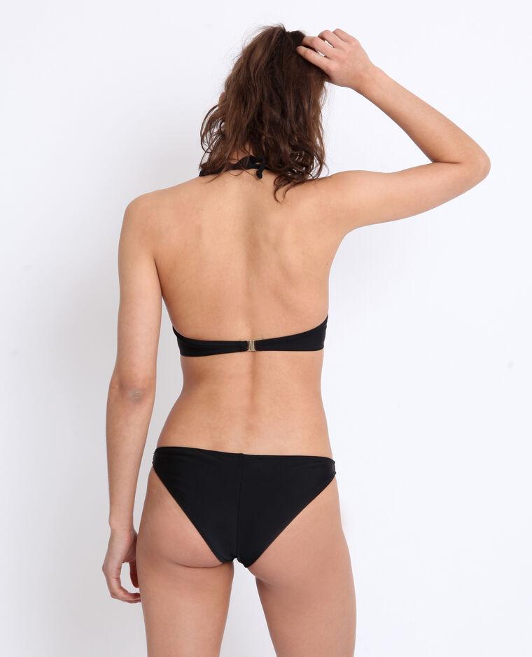 Haut de bikini à volants noir