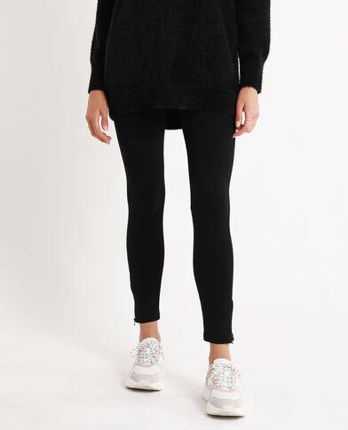 Strakke stretchbroek met elastische taille zwart
