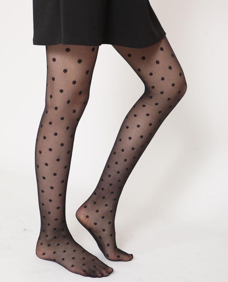 Panty's met stippen zwart