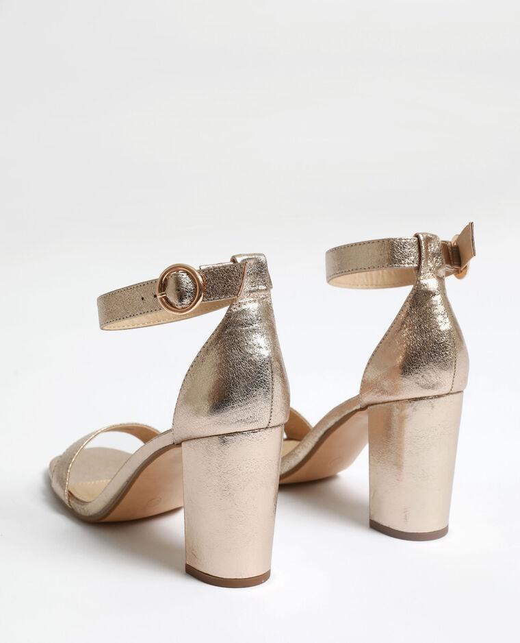 Sandales à talons hauts doré