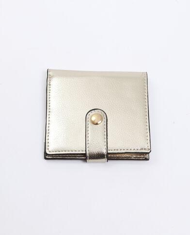 Portemonnee met drukknoop goudkleurig
