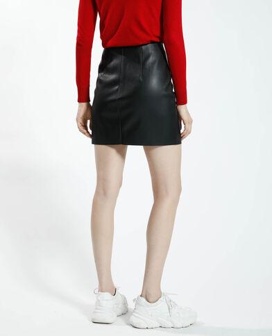 Korte rok van kunstleer zwart - Pimkie