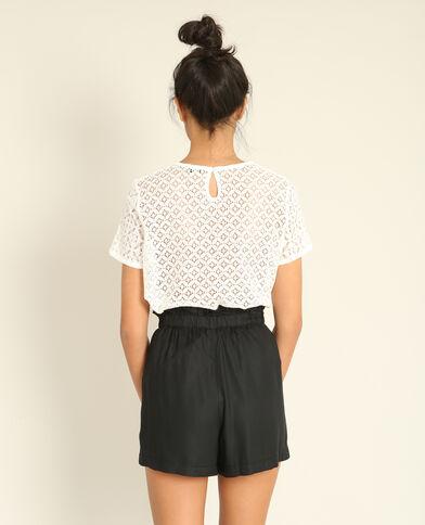 T-shirt van kant wit