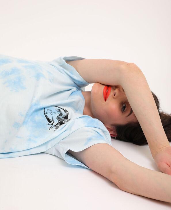T-shirt tie & dye bleu