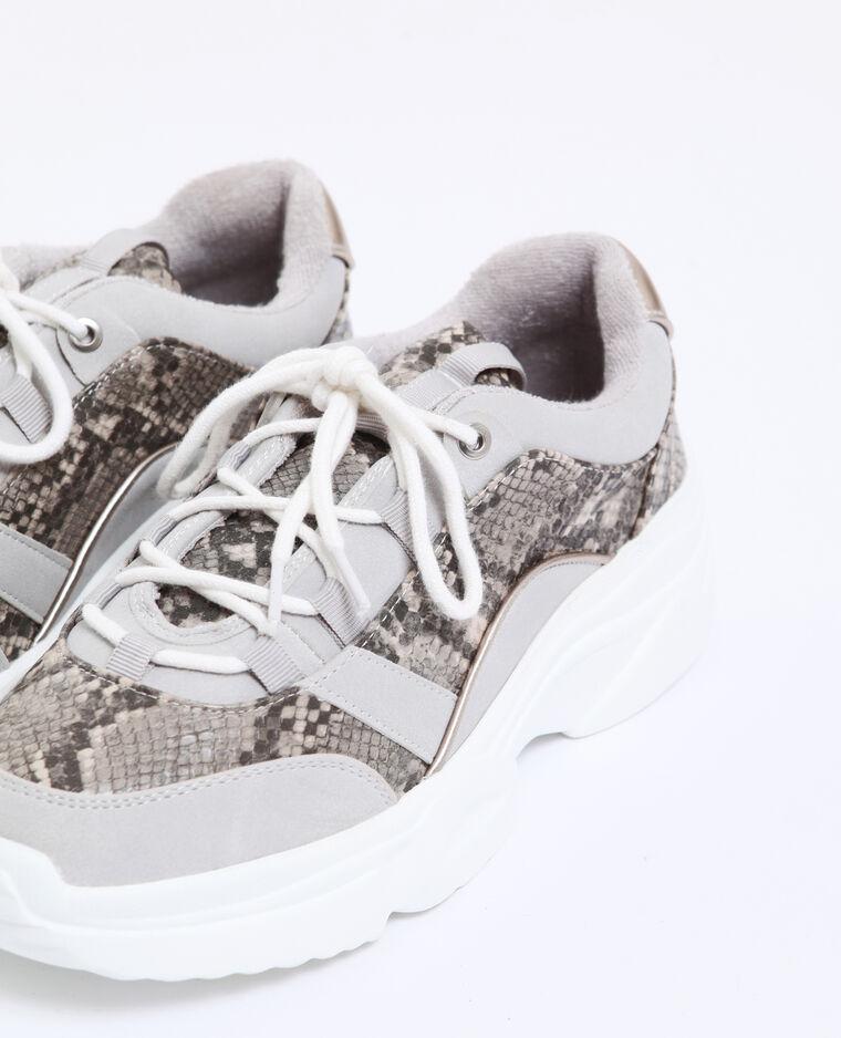 Baskets à semelles épaisses gris