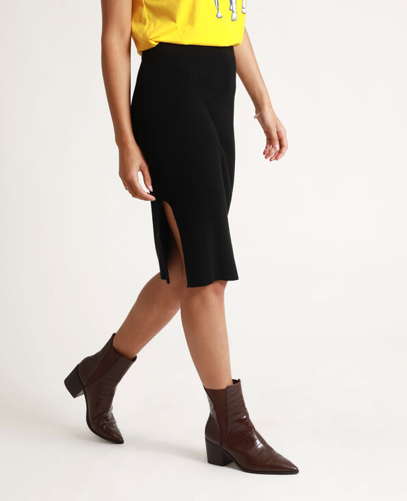 Strakke halflange rok zwart