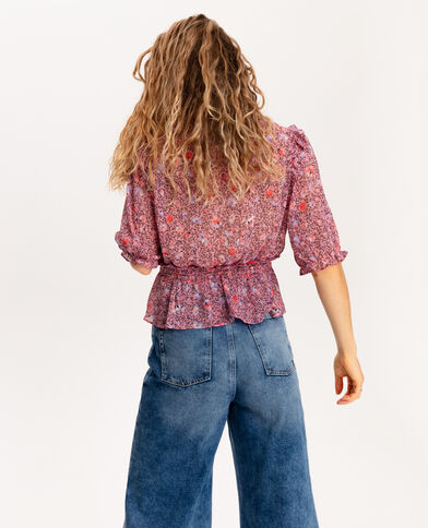 Blouse met ruches roze