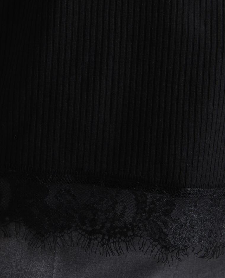 Débardeur en maille côtelée noir