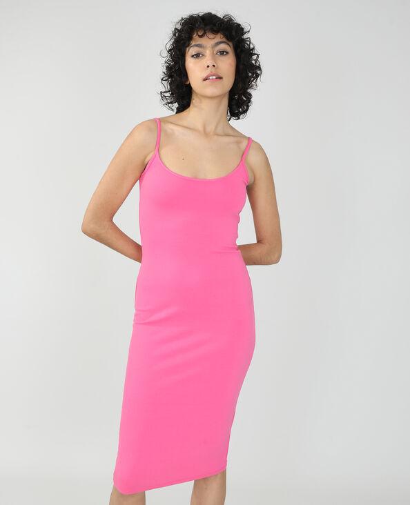 Lange strakke jurk roze - Pimkie