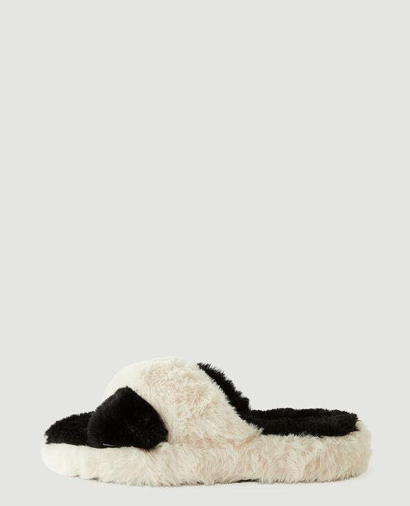 Instappers van schapenvacht grijs - Pimkie