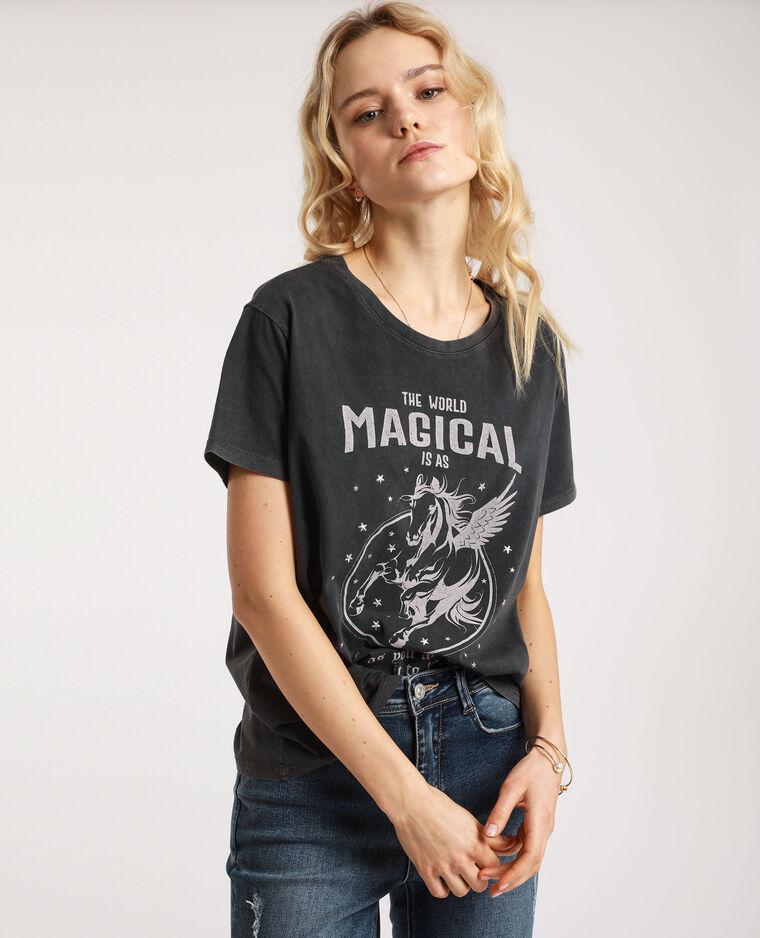 T-shirt graphique gris