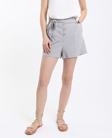 Short fluide gris chiné