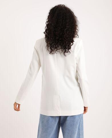 Lang blazerjasje gebroken wit