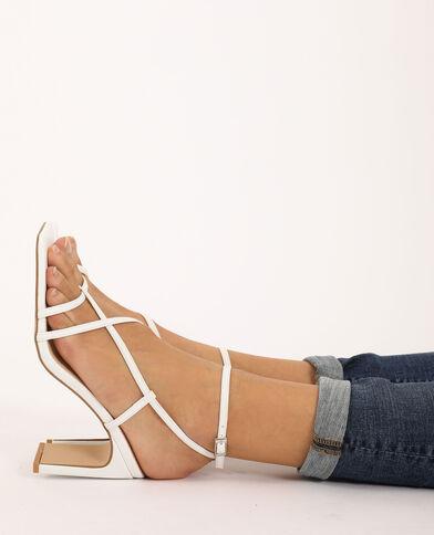 Sandales à talons écru