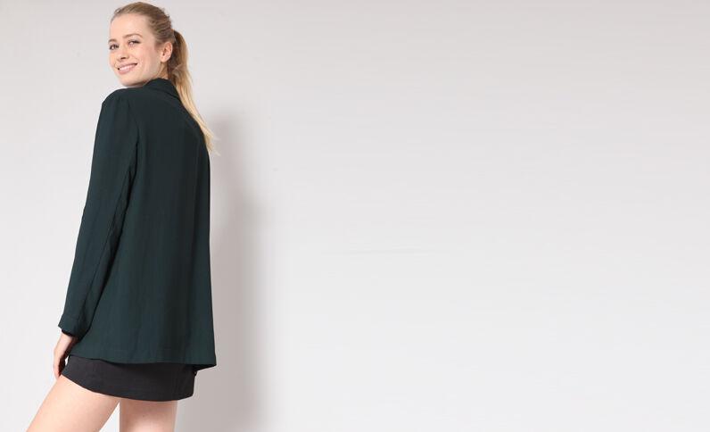 Soepelvallende blazer groen