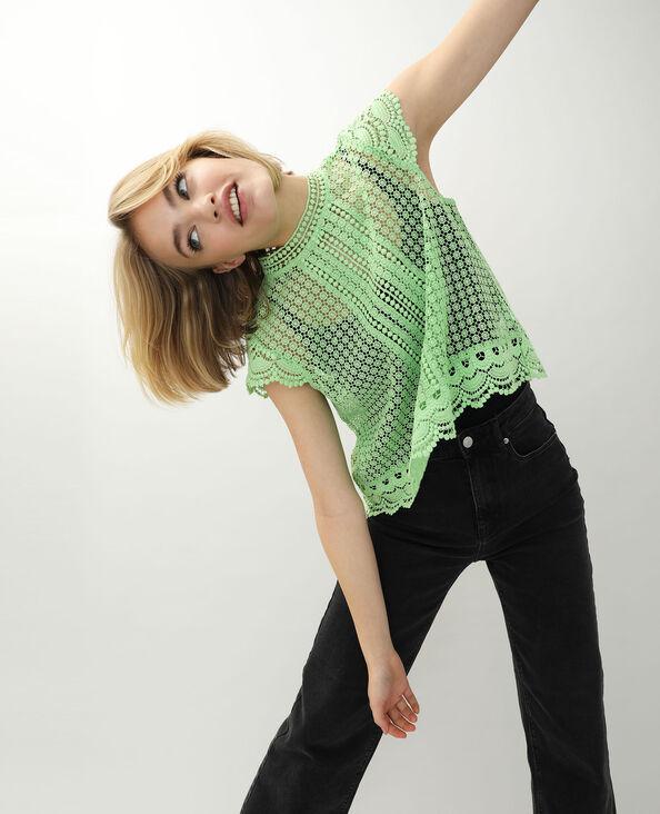 Shirt van kant groen