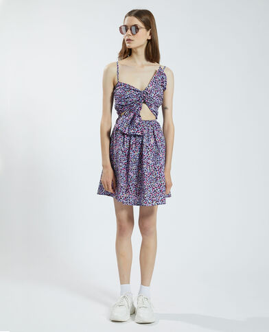 Geknoopte jurk met uitsnijding violet - Pimkie