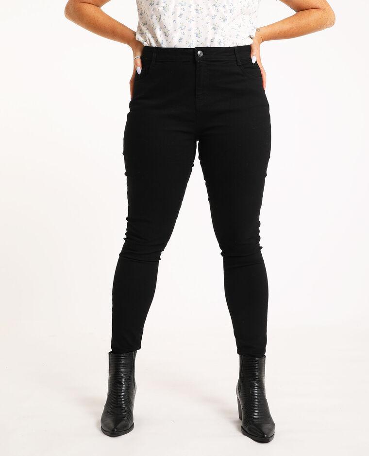 Skinny push up mid waist noir