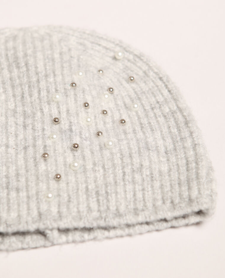 Bonnet à perles gris