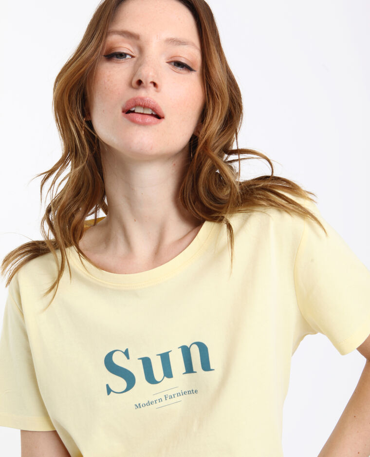 T-shirt SUN jaune clair