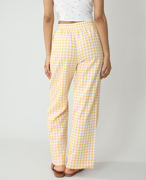 Pantalon wide legs Vichy orange - Pimkie