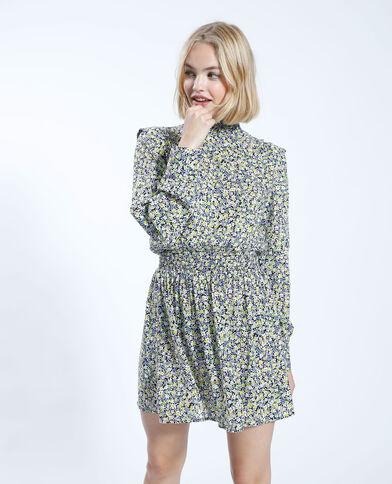 Korte jurk met bloemenprint groen - Pimkie