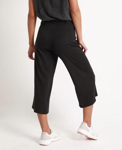 Cropped pants zwart