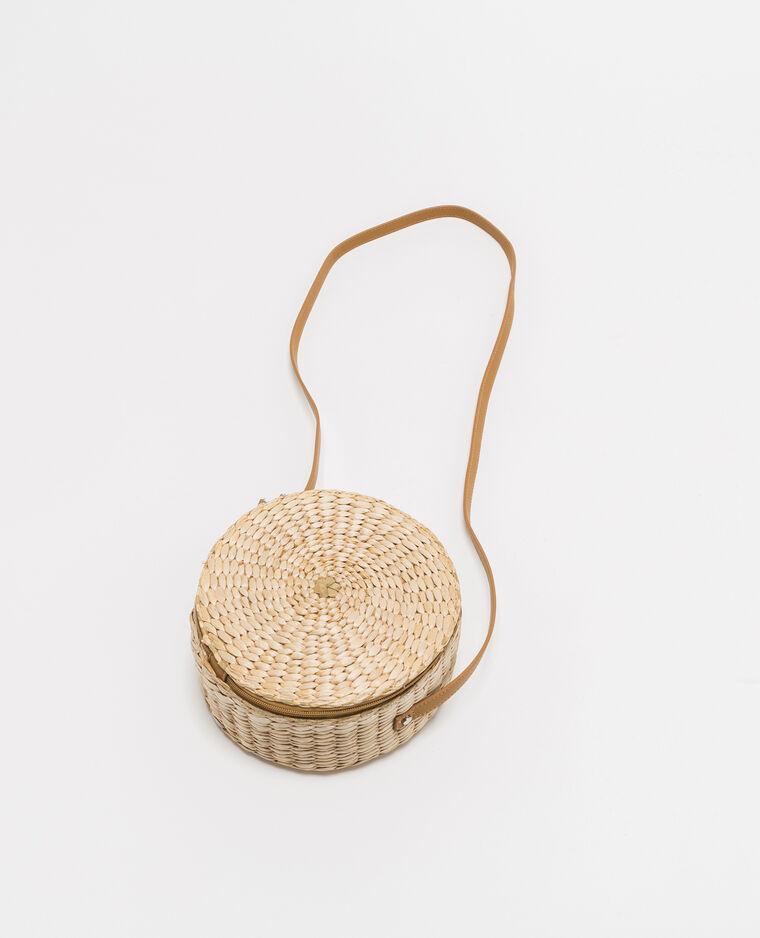sac rond en paille blanc cass 20 916518902a09 pimkie. Black Bedroom Furniture Sets. Home Design Ideas
