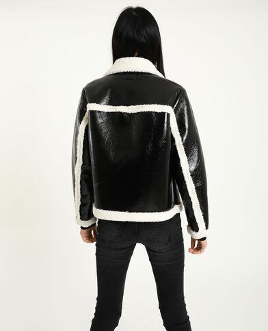 Jasje van vinyl zwart