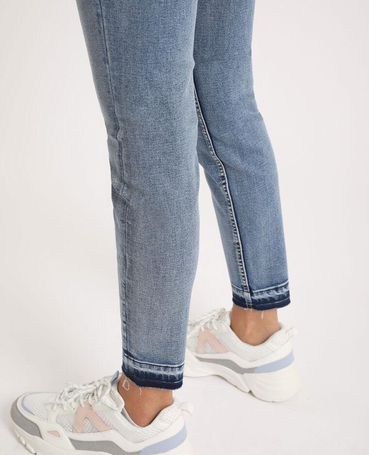 Jean skinny high waist délavé bleu délavé