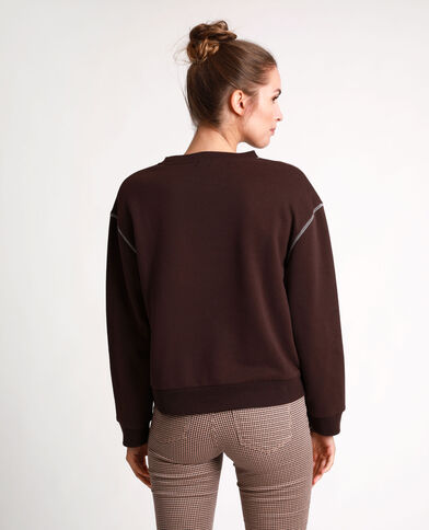 Sweat basique marron
