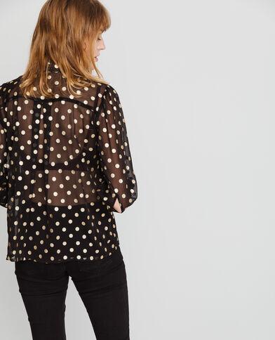 Hemd met stippen zwart