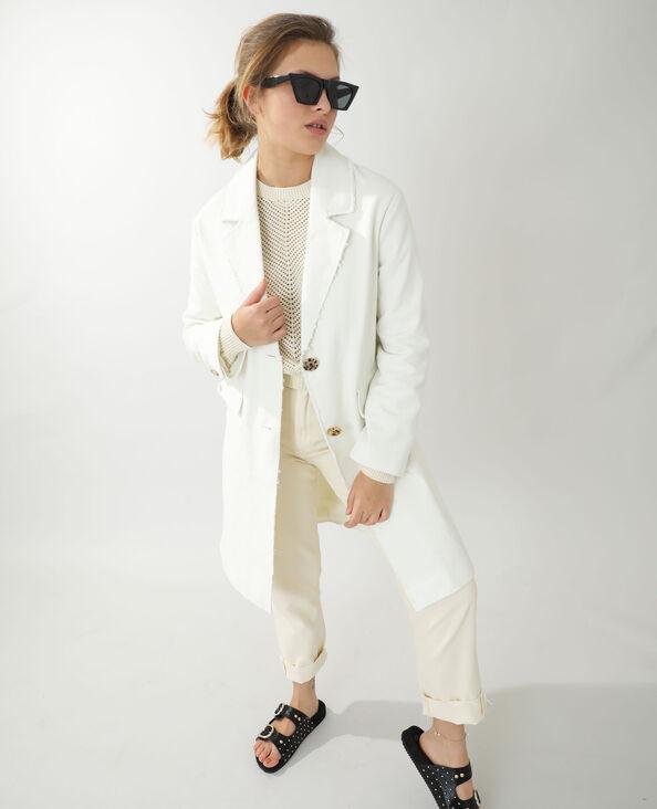 Manteau long en jean beige - Pimkie
