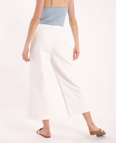 Wide leg jeans ecru