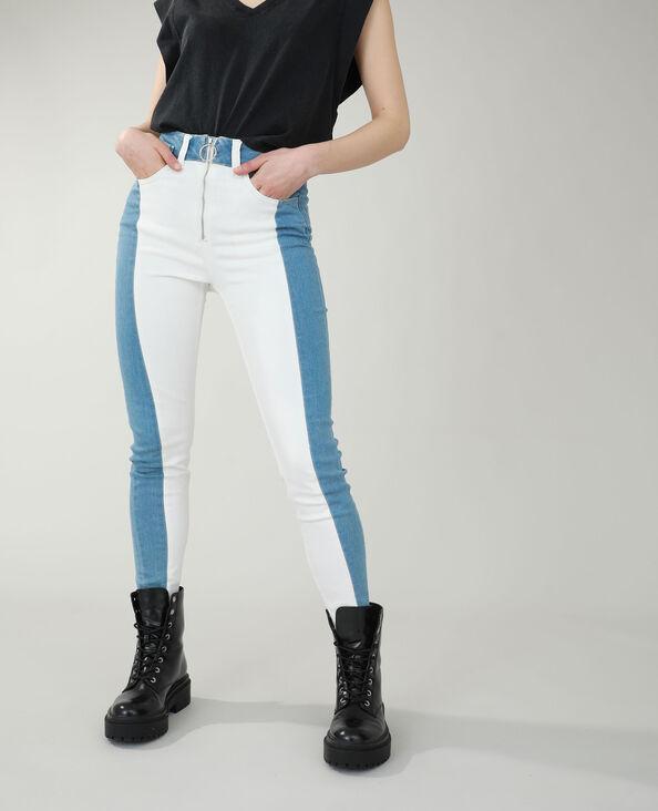 Verwassen skinny jeans met hoge taille denimblauw - Pimkie