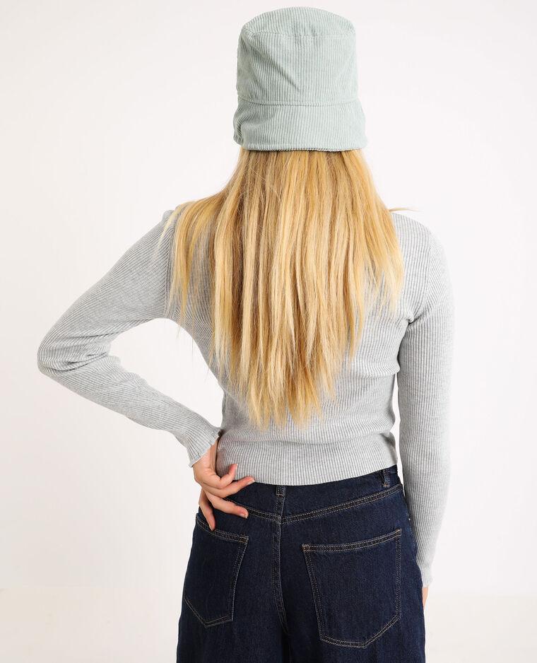 Petit pull côtelé gris chiné - Pimkie