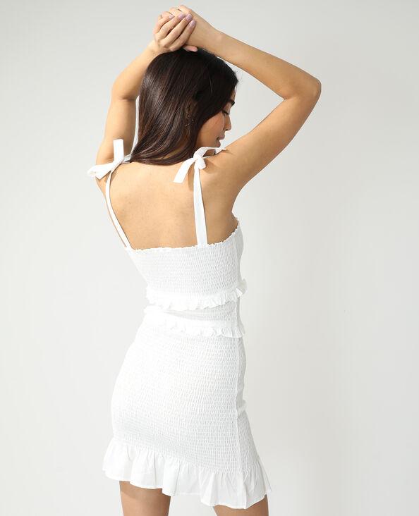 Gesmokte jurk gebroken wit - Pimkie