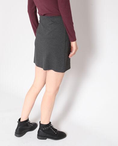 Strakke rok gemêleerd grijs