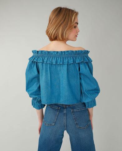 Top van jeans zeeblauw - Pimkie