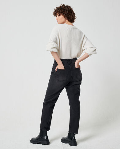 Motrashte mom jeans zwart - Pimkie