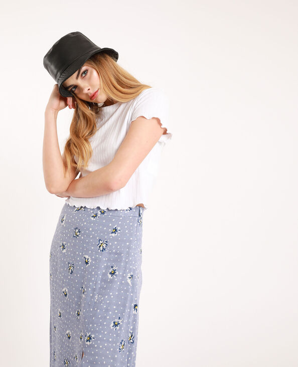 Cropped T-shirt wit