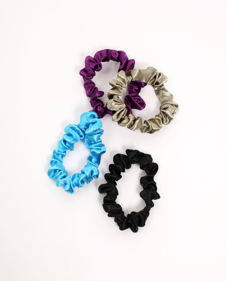 Set van 4 scrunchies violet