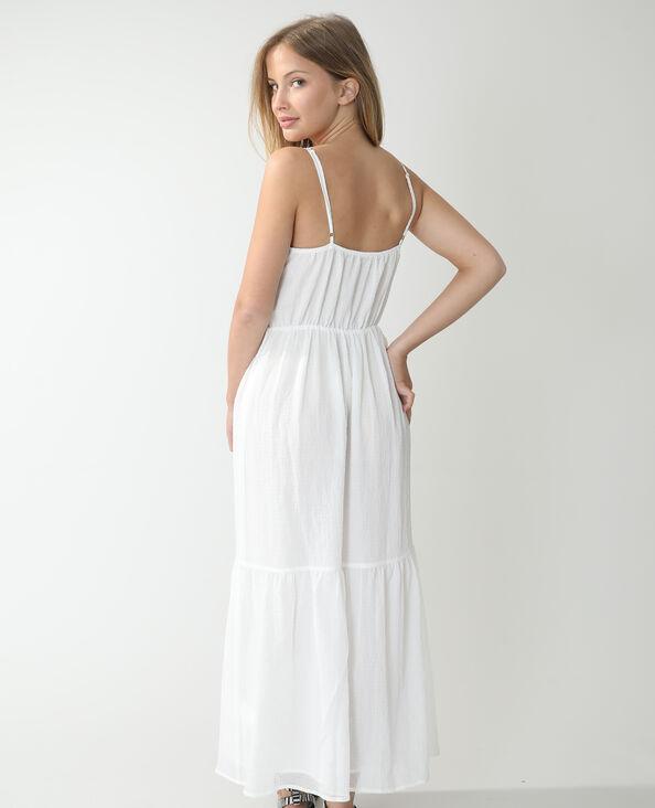 Lange, luchtige jurk gebroken wit - Pimkie