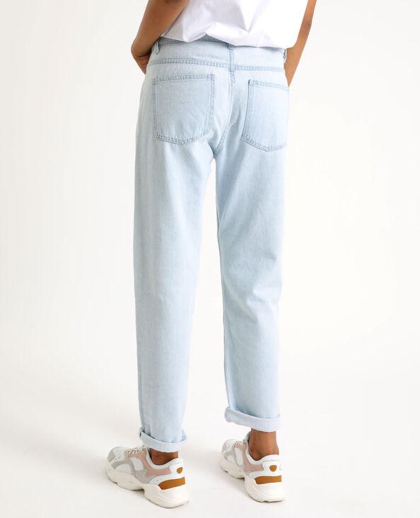 Rechte jeans met middelhoge taille Lichtblauw