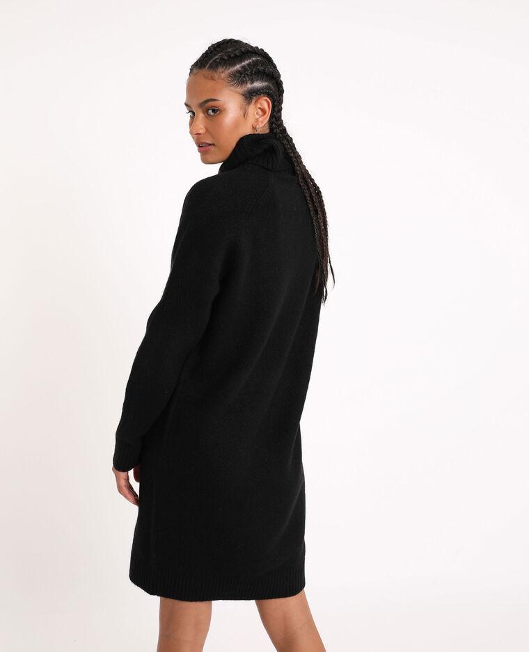 Robe pull à col roulé noir - Pimkie